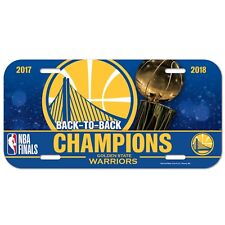 """GOLDEN STATE WARRIORS 2018 NBA BACK TO BACK CHAMPIONS 6""""x12"""" LICENSE PLATE CAR"""
