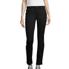 Arizona School Girl Straight Black Pants Slim Fit Classic Leg Juniors Size 7