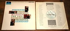 NATHAN MILSTEIN BEETHOVEN VIOLIN TURQUOISE SILVER COLUMBIA STEREO SAX 2508 LP