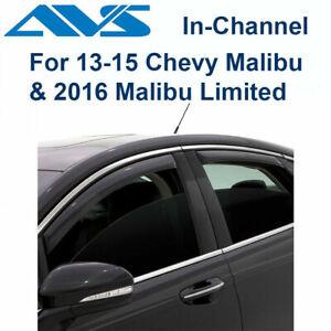 AVS Rain Guards In-Channel Window Vent Visor 4Pc Fits 13-15 Chevy Malibu -