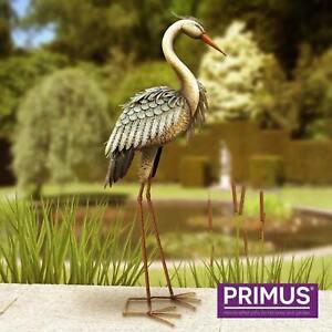 Metal Garden Ornament  Deluxe Heron Bird