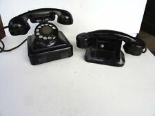 2 Anciens téléphones à cadran vintage 1960's – en métal - mécanisme fonctionne
