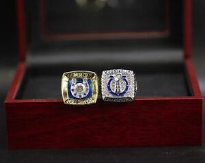 2 Pcs 1970 2006 Indianapolis Colts Ring Colts Championship Ring with Display Box