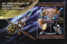 RANGER SPACECRAFT MOON Program/Lunar Probe Space Stamp Sheet #2 2011 Micronesia