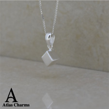 Sets 925 Sterling Silver Cube Necklace Pendant Charm Bridesmaid Birthday Gifts