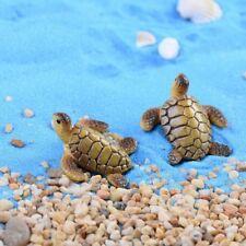 Creative Cute Mini Sea Turtle Resin Figurines Miniatures Fish Tank DIY Ornaments