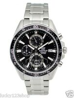 EFR-546D-1A Black Casio Men's Watches Edifice Analog Steel Band 100m New
