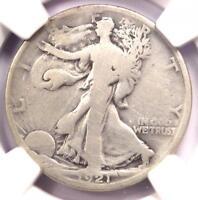 1921-D Walking Liberty Half Dollar 50C - NGC VG Details - Rare Key Date Coin