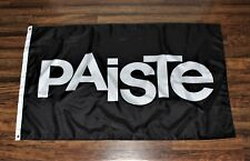 Paiste Cymbals Flag Music Store Advertising Black Banner  Drums  Percussion New
