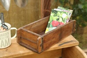 Reclaimed Wooden Brick Mould. Succulent Planter, Table Display, Storage