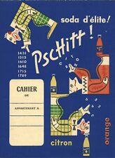 Objet de collection protège cahier ancien soda Pschitt