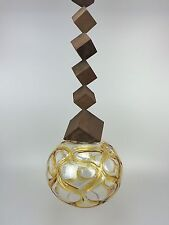 70er Jahre Lampe Leuchte Kugellampe Hängelampe Glas Deckenlampe Space Age Design