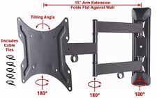Full Motion Heavy-Duty TV Wall Mount Tilt Swivel Bracket LED LCD 19 24 32 39 42""
