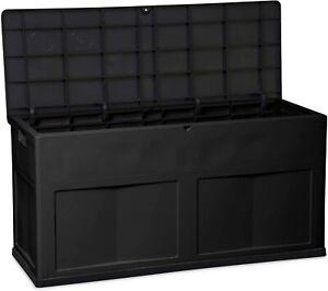 TOOMAX Auflagenbox Kissenbox mit Kissen, Anthrazit, Wasserdicht, Schwarz, 1227-1