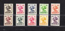 série de 10  timbres taxes de 1941 avant indépendance  Dahomey  neuf  **