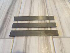 "USA steel lot of 3- 1/8""x1""x8"" 15N20 high carbon steel flat bar knife billets"