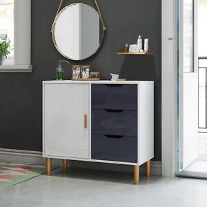 Cupboard 3 Drawers 1 Door Sideboard Storage Kitchen Cabinet Solid Wooden Leg uk