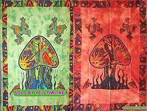 2 piece Mushroom Tapestry Bohomen Indian Wall Hanging Wholesale (77cmX102cm)GR-4