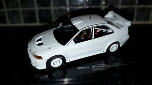 Mitsubishi Lancer Evo V Rally Specs Plain white test car 1/43rd Ixo limited ed