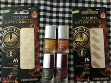 COVER GIRL HUNGER GAMES OUTLAST GLOSSTINI NAIL SET OF 4 COLORS & 2 ART DECALS