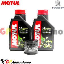 TAGLIANDO OLIO + FILTRO MOTUL 5100 15W50 PEUGEOT 400 METROPOLIS 2014
