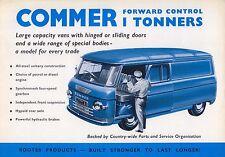 Commer Forward Control 1600 1 Ton Vans PA 1962/63 Original UK Brochure No. 845