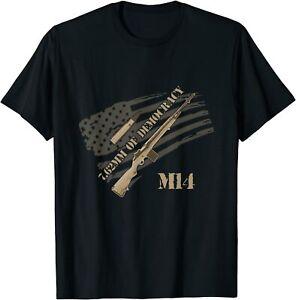 M14 Rifle fan t shirt 7.62 nato Vietnam democracy joke