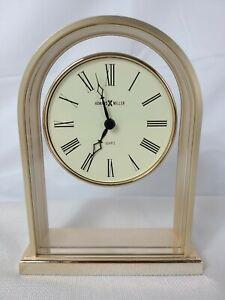 Howard Miller 613-118 Gold Finish Quartz Desk Mantle Shelf Clock Roman Numerals