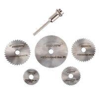 6PZ Mini lama di sega circolare Set HSS di taglio a disco rotante trapano A E1D1