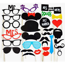 Funny Photo Booth Props Hat Mustache On A Stick Set Wedding Birthday Party Decor