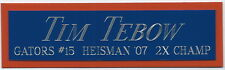 TIM TEBOW HEISMAN NAMEPLATE FO AUTOGRAPHED Signed FOOTBALL FLORIDA GATORS JERSEY