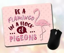 Custom ~ Inspirational Quote, Flamingo, Pigeons, Stars, Gift ~ Vivid Mouse Pad