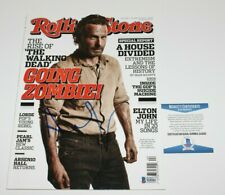 ANDREW LINCOLN SIGNED ROLLING STONE MAGAZINE BECKETT COA 1 THE WALKING DEAD RICK