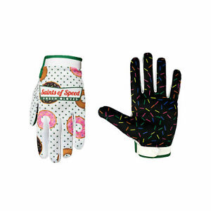 Saints of Speed Glazers Cycling Gloves, Large, Donuts