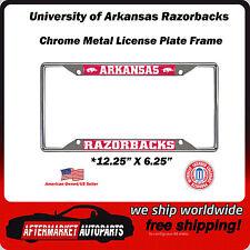 University of Arkansas Razorbacks Chrome Auto Car License Plate Frame Border