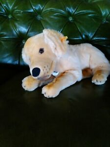 """Steiff  """"Lumpi"""" Golden Retriever  Brand new with tags Made in Germany No. 079795"""