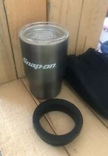 Snap On New Stainless Steel 12oz Coffee Travel Tumbler 3 in 1 Mug Free Shipping!