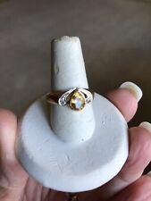 & Diamonds Pear Ring Sz 7 New ListingVintage 14K Yellow Gold Citrine