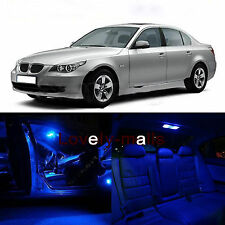 Error Free bulbs Blue LED Interior Lights Package 15x Kit For BMW E60 4DR 04-10