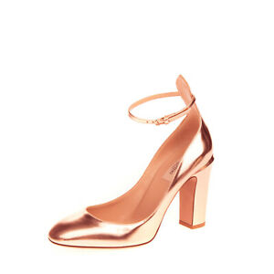 RRP €855 VALENTINO GARAVANI Leather Court Shoes EU38.5 UK5.5 US8.5 Made in Italy