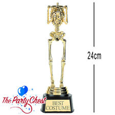"9"" HALLOWEEN BEST COSTUME SKELETON TROPHY Fancy Dress Party Prop Decoration 4711"
