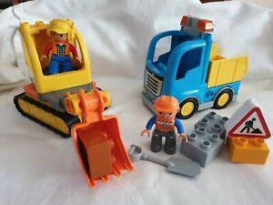 Lego Duplo set 10812 Truck Tracked Excavator Construction Site
