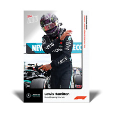 2020 Formula 1 F1 Topps Now card #9 Lewis Hamilton Record Breaking 92nd Win