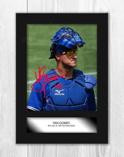 More details for yan gomes a4 signed mounted photograph picture poster. choice of frame.