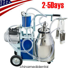 Portable Electric Milking Machine Milker Cows Stainless Steel With 25l Bucket 110v