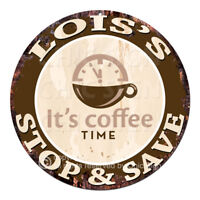 CWSS-0091 LOIS'S STOP&SAVE Coffee Sign Birthday Mother's Day Gift Ideas