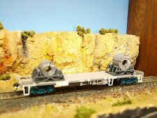 Two coil steel cradles RTR with coils. HO scale