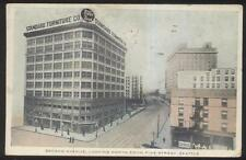 Postcard Seattle Washington/Wa 2nd Second Ave Standard Furniture Building 1907