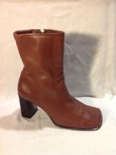Bay By Dolcis Brown Ankle Leather Boots Size 37