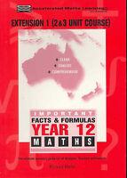 Facts & Formulas: Year 12/3 Unit Hsc